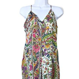 Zara Basic Floral Print Jumpsuit Size Medium